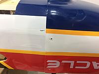 Name: IMG_5789.jpg Views: 28 Size: 377.2 KB Description: Installed the cowling and marked where the blue covering should stop.