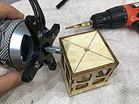 Name: IMG_8691.JPG Views: 19 Size: 2.05 MB Description: Found the center and drilled a hole to fit the shaft snug.