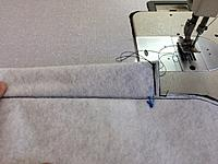Name: IMG_4099.jpg Views: 26 Size: 615.5 KB Description: Run a stitch to close the pocket as shown.
