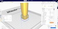 Name: Cura support blocker 3.png Views: 13 Size: 882.6 KB Description: Select which parameters you would like different for this section of the model.  I went with infill density, wall line count and support