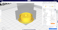 Name: Cura support blocker 4.png Views: 14 Size: 1.15 MB Description: Screen grab showing the newly sliced model with support and infill of the front nose area. i would rather not have the extra infill here but this is the best way i have found to do this in Cura.