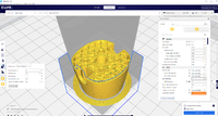 Name: Cura support blocker 5.png Views: 20 Size: 1.30 MB Description: Inside of the motor mount showing the changed infill settings.