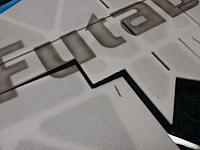 Name: 20140128_233033.jpg Views: 294 Size: 77.1 KB Description: cutting the inboard hinge loose to insert the over under blenderm weave