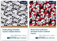 """Name: Fabric3.JPG Views: 12 Size: 141.0 KB Description: These are the two fabrics I have chosen for the job.  Although not even close to the metallic red paint, I'm hoping the roses will """"suit"""" it anyway."""