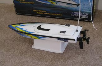 The Mini Rio on the included boat stand comes completely assembled.