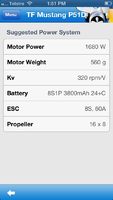 Name: EASpec screenshot - Top Flite P-51D Mustang - suggested power system.png