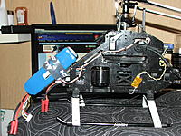 Name: DSCF1111.JPG Views: 132 Size: 912.3 KB Description: as you can see the battery is just on the heli  to balance the tail as all scale helis are tail heavy, skids from the 500 pro are zip tied so it has some thing to land on lol