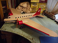 Name: RC Foamy DC-3 Twin Engine Home Made (2).jpg Views: 102 Size: 162.9 KB Description: Red Tail Hawk DC-3