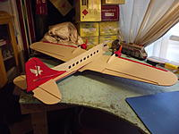 Name: RC Foamy DC-3 Twin Engine Home Made (3).jpg Views: 83 Size: 167.9 KB Description: 4 Ch. waiting on it's maiden.
