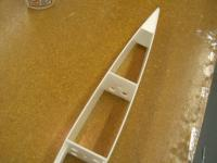 Name: Pdrm1232.jpg Views: 1022 Size: 84.5 KB Description: Install upper and lower rear triangle reinforcements. The glue in the rear former