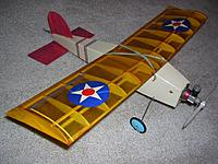 Name: Ace RC Littlest Stick w-020 PeeWee.jpg Views: 95 Size: 95.0 KB Description: Repaired Littlest Stick with Pee Wee .020 using an external tank for extended flight on rudder only.