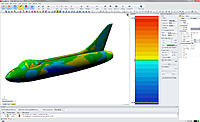 Name: 29-01-2014 18-20-51.jpg Views: 451 Size: 163.4 KB Description: The Deviation Accuracy Analyser ( mesh and the solid) shows the majority of the fuselage  is within +/- 0.1mm of the original… I can live with that :)
