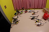 Name: desertfoxxfleet2.jpg Views: 156 Size: 192.3 KB Description: The coax was first, then the red/white Copter, v912, v922, Lightning Bird, FBL100, old yellow, blk/orng, blu/wht v911 BNF from banggood.com all working with v912 TX. v922 works with FBL100 X-6S TX better than it's own...