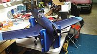 Name: Corsair2.jpg Views: 200 Size: 83.7 KB Description: Assembly complete, added blue wing tips on top and invasion stripes on the bottom