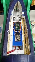 """Name: IMG_20140216_195743_353.jpg Views: 154 Size: 446.9 KB Description: I made this """"avionics"""" board out of plastic to give a nice flat surface to mount the receiver, Eagle A3 board, and clean up the inside"""