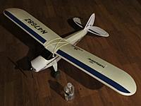 """Name: Super Cub 2.5.13 022.jpg Views: 93 Size: 139.2 KB Description: 48"""" wingspan. It's a floater with big dihedral like a vulture."""