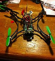 Name: IMG_0942.jpg Views: 219 Size: 215.2 KB Description: Flying Squirrel FPV. Micro MWC board. Too many wires, but it flies!