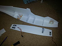 Name: 20150221_093307.jpg Views: 380 Size: 738.6 KB Description: 1 side panel glued, ready to glue battery tray