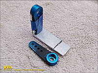 Name: WorkshopPT_04.jpg Views: 98 Size: 115.3 KB Description: Tape the Pan Arm in place as shown and fit the Tilt Arm against it and mark the edge of the spline hub.