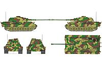 Name: HL King Tiger Build 007.jpg Views: 147 Size: 341.7 KB Description: Simple 8 color picture - 3 of them gray - documenting of the Heng Long camouflage