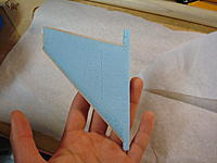 Name: Mirage 2000 B build 004.jpg Views: 101 Size: 136.1 KB Description: Cut out and edged with balsa
