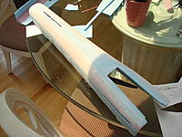 Name: Mirage 2000 B build 036.jpg Views: 155 Size: 239.4 KB Description: After being sanded (HEAVILY) and spackled