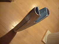 Name: Mirage 2 012.jpg Views: 86 Size: 178.9 KB Description: Finished the rear fuselage section, it just needs more spackle and sanding