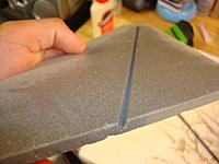 Name: Mirage 4 007.jpg Views: 71 Size: 159.4 KB Description: slot for the carbon fiber rod, made using a router