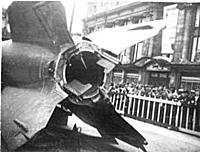 Thrust Vanes on V-2 Missile