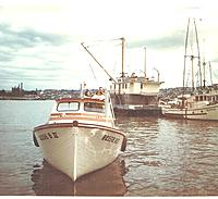 Name: launch and christen.jpg Views: 111 Size: 243.2 KB Description: Bessie B II Christening Day 1966. Mr Spinale told me a story of how these boats were built. All the craftsmen had a job to do, from building keels, bow stems, ribs etc. Also the boats were put together assembly line style.