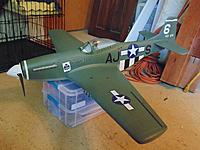 Name: 1.jpg Views: 148 Size: 459.1 KB Description: Tower Hobbies P-51 after rebuild/repaint. Also now with a 3 blade prop.