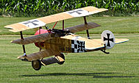Name: flying.jpg Views: 15 Size: 811.0 KB Description: Balsa USA 1/3 scale DRI.    A century of aerial warfare, and a handful to fly.