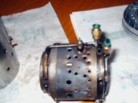 Name: engine show 121.jpg Views: 3306 Size: 125.8 KB Description: combustion chamber with both fuel rings, and glow plug installed on boss