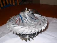 Name: Big turbine 015.jpg Views: 4619 Size: 128.7 KB Description: Front end housing removed.  Compressor wheel, and diffuser.