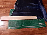 Name: 20170615_181445.jpg Views: 41 Size: 1.04 MB Description: Carbon Kevlar 2X2 twill will be epoxied between two planks then cut into parts . It will replace the plywood edge and the pin hinges to so hate putting in . 6.o oz  A bit heavy  but ok for experimentation