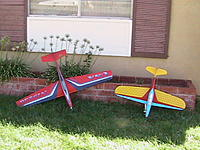 Name: 135.jpg Views: 65 Size: 202.3 KB Description: Eric Baker's P39 on the right  another cool paint Job