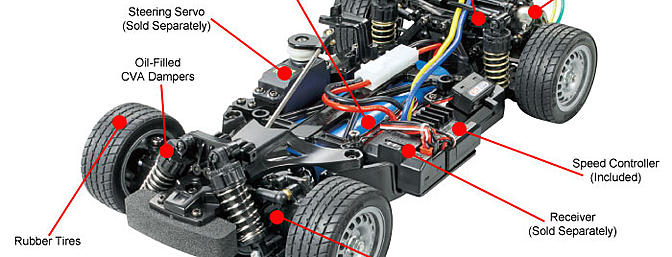 Tamiya M06 standard chassis.