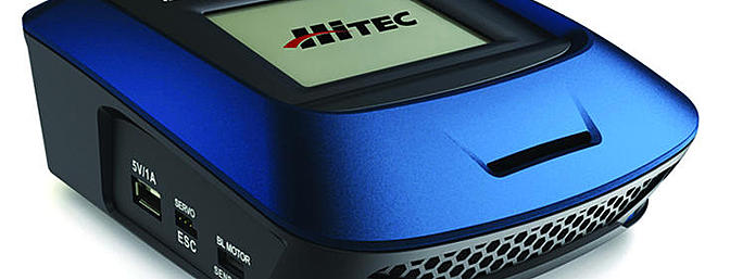 The all new multi-chemistry Hitec X1-200 Touch charger with super convenient touch screen.