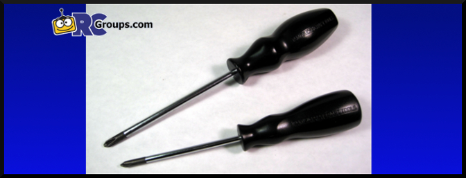 Tamiya Philips Screwdrivers (item nos. 74006 and 74007).