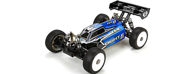The all new TLR 8IGHT-E 3.0 Race Kit (TLR04002).