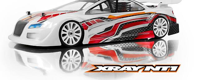 The XRAY NT1 1/10-scale nitro touring car.