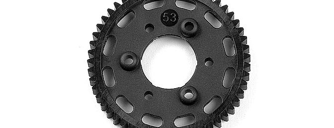 Example of one of the new graphite spur gears for the XRAY NT1.