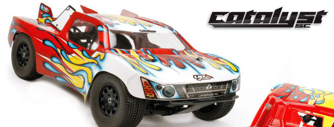 Custom Body Skins for Catalyst SC body are available in Upgrade RC's Custom Skid Section on its webpage.