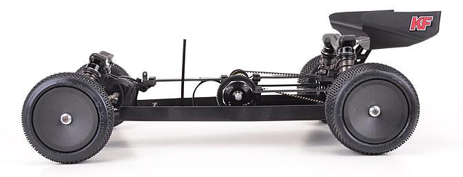 Central motor layout offers superb cornering on high grip tracks.