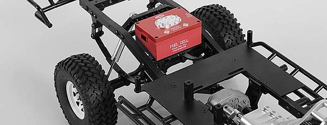 The red fuel cell is mounted in the RC4WD Trail Finder 2 chassis.
