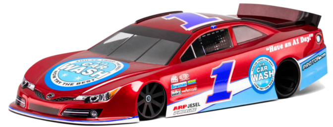 PROTOform G6-T Lightweight Clear Body for 1/10-scale oval racing. (Item no. 1236-25)
