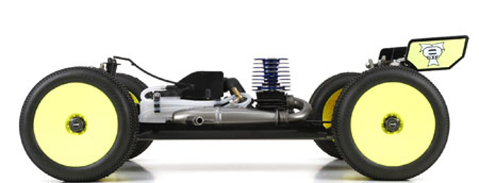 The kit comes with an impressive collection of optional parts that includes lightweight outdrives, a lightweight spur gear, adjustable hinge pin braces, a hard-anodized flywheel, an aluminum servo saver top, aluminum rear bearing inserts and more.