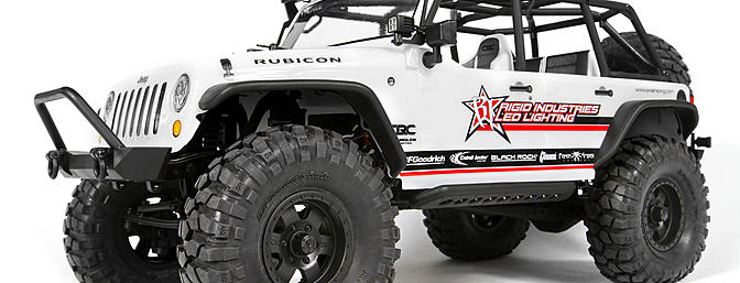 Axial SCX10 2012 Jeep Wrangler Unlimited C.R Edition1/10-scale off-road scale truck.