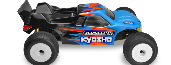 JConcepts Finnisher body for the Kyosho RT6 MM stadium truck (Item no. 0269).