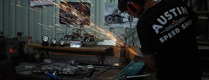 Working with metal is Byron's passion and a skill that was self-taught.